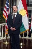 President of Iraq's Kurdistan region Massoud Barzani honoured at a reception held the Fairmont Hotel