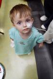 Child Patient and Laura Bush