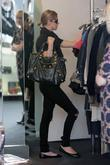 Nicky Hilton, Wearing Ripped Black Jeans, Black Accessories and Shopping For Clothes At Resurrection Boutique In West Hollywood