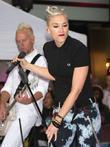 Gwen Stefani of pop group No Doubt performing...