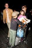 Noah Wyle, Owen Wyle, Tracy Warbin and Auden Wyle