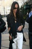 Zoe Saldana, Bryant Park, New York Fashion Week