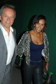 Wolfgang Puck and his wife Gelila Assefa depart...