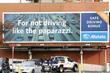 Allstate insurance billboard offering a Safe Driving Bonus...