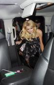 Paris Hilton leaving the Ivy Restaurant in West...