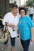 Chef Paula Deenposes With Fan Linda Rosado Outside Her Manhattan Hotel