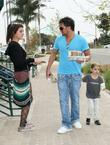 Peter Andre, son Junior go for coffee at Starbucks at Cross Creek, Malibu.