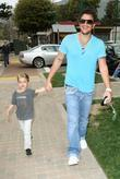 Peter Andre, Son Junior Go For Coffee At Starbucks At Cross Creek and Malibu.
