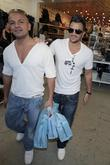Peter Andre, His Brother Shop At Kitson Men Boutique and Walk To The Newsroom In West Hollywood