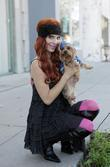 Phoebe Price and her Yorkshire terrier Henry