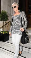 Pink aka Alecia Moore leaving her hotel London,...
