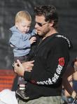 Dean McDermott and son Liam at Mr. Bones Pumpkin Patch in West Hollywood