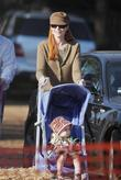 Marcia Cross and daughter at Mr. Bones Pumpkin Patch in West Hollywood