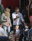 Tobey Maguire, Jennifer Meyer and daughter Ruby at...