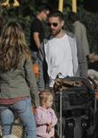 Tobey Maguire, Jennifer Meyer and daughter Ruby at Mr. Bones Pumpkin Patch in West Hollywood