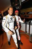 Michael Schumacher and Lewis Hamilton