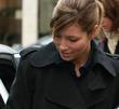 Jessica Biel leaving the BBC Radio One studios...