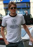 Kris Marshall leaving the BBC Radio One studios...