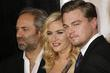 Sam Mendes, Kate Winslet and Leonardo DiCaprio Los...