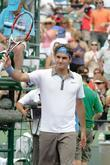 Roger Federer Plays Against Nicolas Kiefer