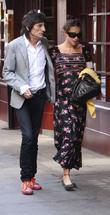 Ronnie Wood and his heavily pregnant daughter Leah...