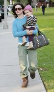 Sara Gilbert and Daughter Sawyer Enjoy A Day Out At Beverly Hills Park.