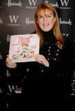 Sarah Ferguson signing copies of her new children's...