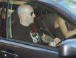 Scott Ian, Rhythm Guitarist For The Metal Band Anthrax and Checks His Iphone While Driven Around Beverly Hills