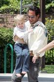 Sharon Stone and a friend spend time with her son Roan Bronstein