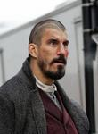 Robert Maillet on set of his new movie 'Sherlock Holmes' due for release in 2009