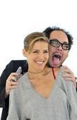 Elsa Pataky and Guillermo Toledo during a press...