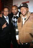 Rev. Ben Chavis, Londell McMillan and Russell Simmons...