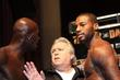 Promoter Gary Shaw (m) Tries To Keep Peace Between Antonio Tarver (l)