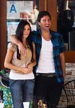 Jayde Nicole and Brody Jenner shooting scenes for...