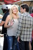 Stephanie Pratt shooting scenes for 'The Hills' at...