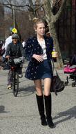 Model Theodora Richards Walking In The West Village