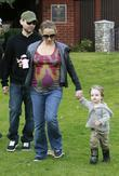 Tobey Maguire, pregnant wife Jennifer Meyer take their daughter Ruby to Beverly Hills Park.