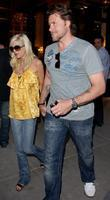 Tori Spelling and Dean McDermott leaving Cipriani restaurant after having dinner together in Manhattan.