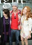 Ashley Greene, Kellan Lutz, Rachelle Lefevre Posing Outside The Kitson Shop Where They Have Created A Limited Edition Collection Of Luxe T-shirts, Thermals, Tunic Tops, Hoodies Featuring Graphics From The Film 'twilight' On Robertson and Beverly Hills.