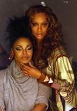 Tyra Banks and Janet Jackson