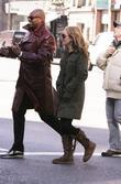 Becki Newton on the set of 'Ugly Betty'...