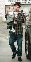 Joel Madden and daughter Harlow attends Cruz Beckham's 4rd Birthday party in North Hollywood at XMA Martial Arts place.