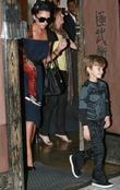 Victoria Beckham and her son Cruz leaving his 4rd Birthday party in North Hollywood at XMA Martial Arts place.
