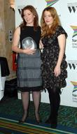 Gillian Anderson and the winner of the New Director Award Susanna White