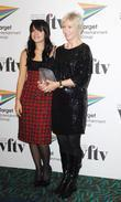 Lily Allen and the winner of the Barclays Commercial Project Management Award Isobel Griffith