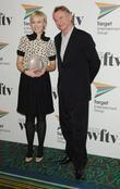 Sam Neill and the winner of the Talkback Thames News Talent Award Rebekah Gilbertson