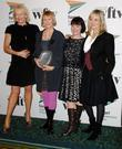 Twiggy, the winners of the ITV Acheivement of the Year Award Judy Craymer, Catherine Johnson and Phyllida Lloyd