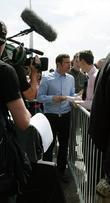 Dermot O'Leary talks to X Factor hopefuls outside the O2 Arena to audition for the new series of the ITV show X Factor