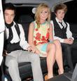 Diana Vickers, Austin Drage and Eoghan Quigg outside...