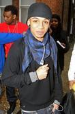 Aston Merrygold of JLS leaving the 'X Factor'...